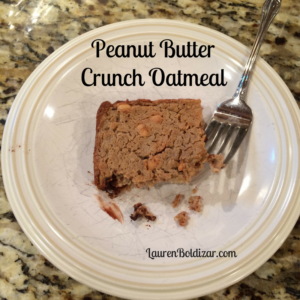 Peanut Butter Crunch Oatmeal